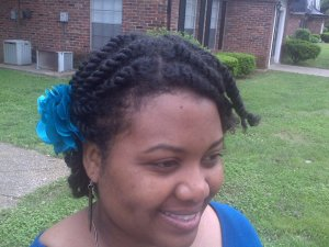 Twisted Updo Natural Hair 2