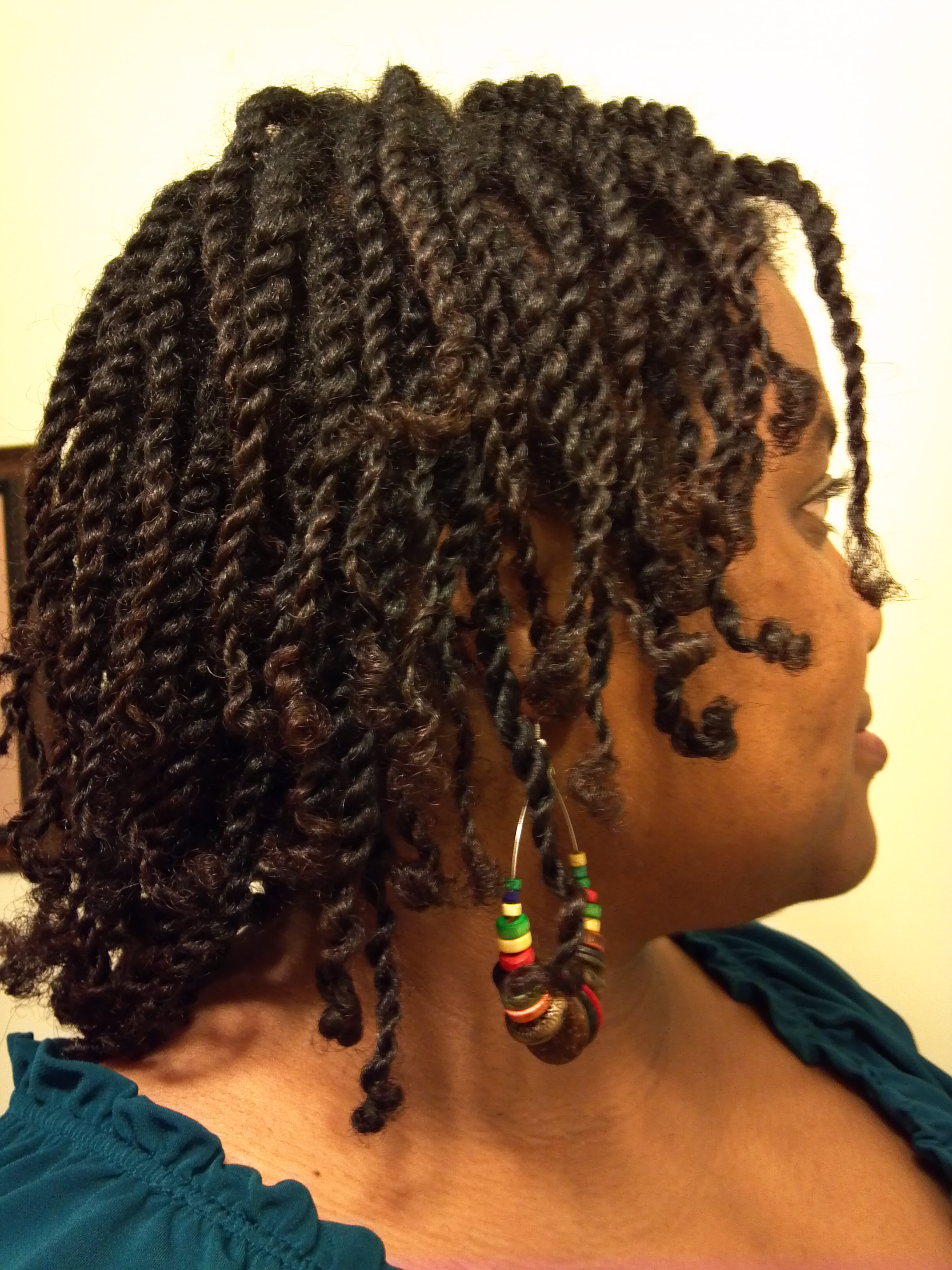 Elongated Twists On Dry Hair Derby City Naturals