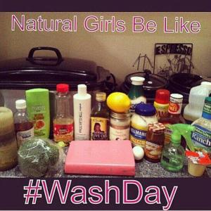 Natural Hair Wash Day