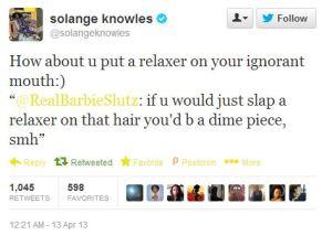 solange tweet