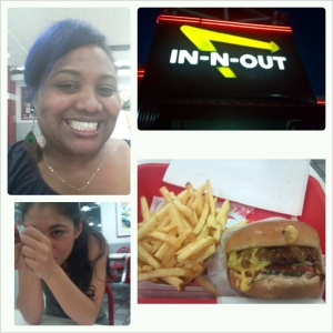 My first stop off after landing In-N-Out with my bestie