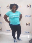 "Me before the event rocking my ""Nappy is Not A Bad Word"" tee from Brokey McPoverty"