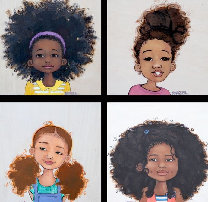Natural Hair Products Clip Art