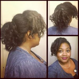 Puff Cuff Styled On Straight Hair